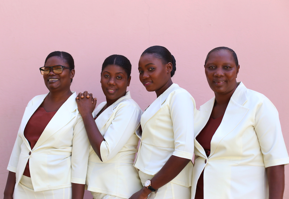 June 2018 Midwife graduates - two of whom joined the MamaBaby Haiti staff.