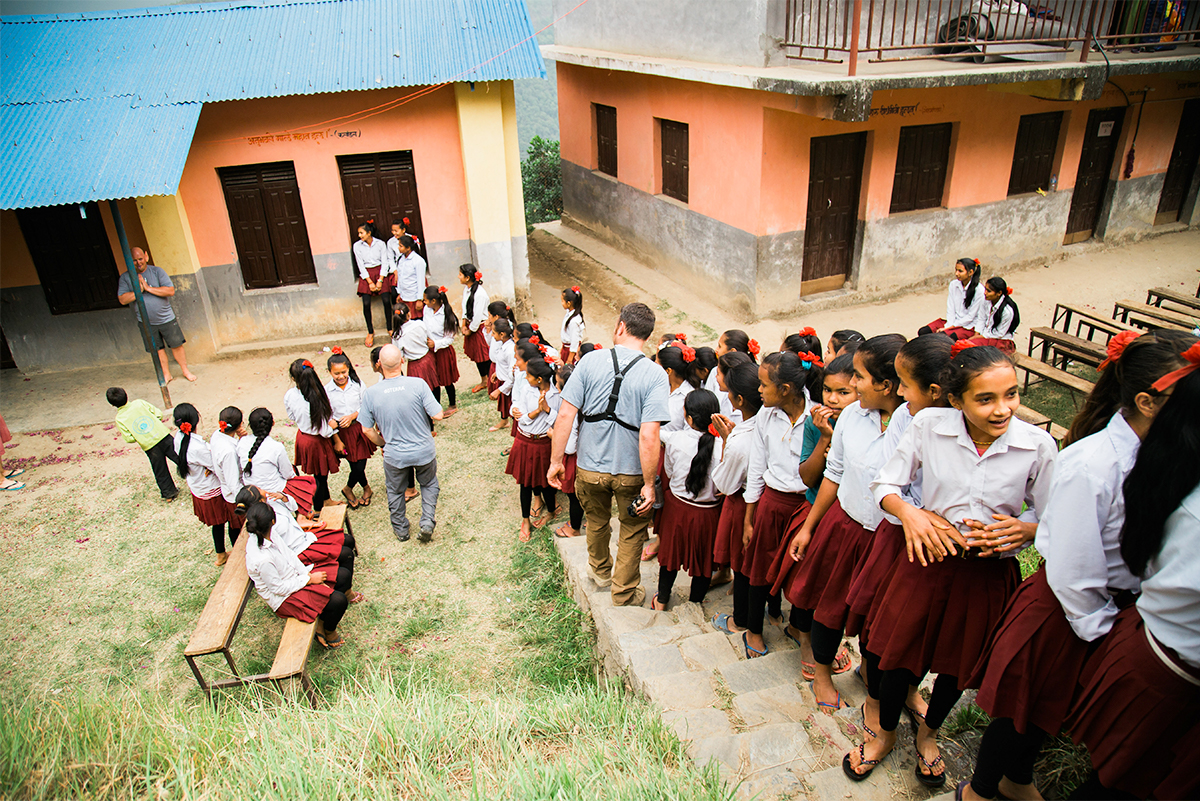 The Shree Sanskriti Sadan Secondary School and Sharada Secondary School and two of five new schools built in Nepal.