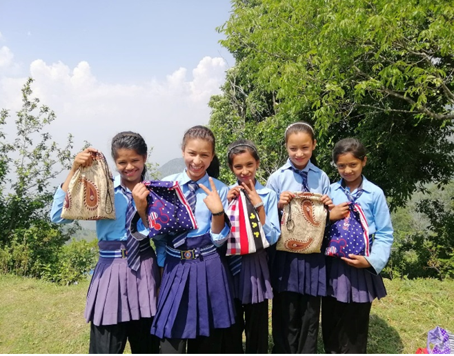 Training provided to girls in Chisapani, Nepal